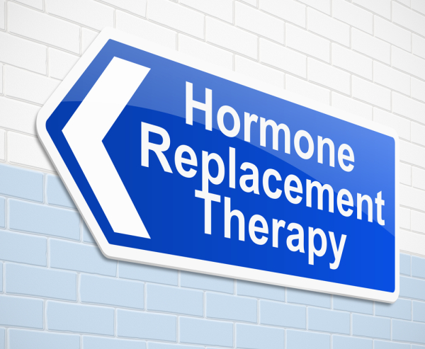 Sign with Hormone Replacement Therapy on it