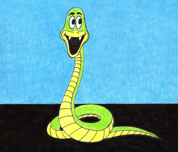 Cute Green and Yellow Snake
