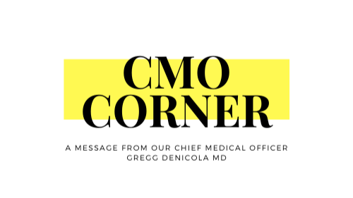 CMO corner logo in black and yellow